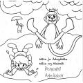 Nilla ja Ádegahttu stánžžis bargogirji/ Nilla og Atekatt i søla arbeidsbok