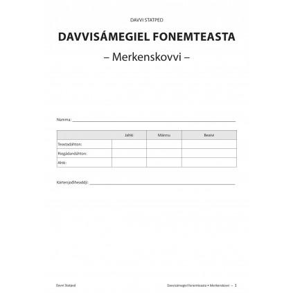 Davvisámegiel fonemteasta - Merkenskovvi